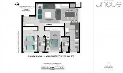 Apartamento 202 a 502