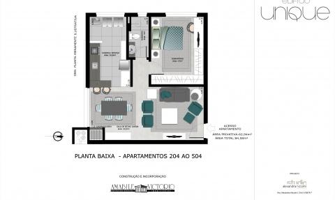Apartamento 204 a 504